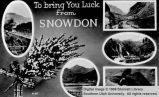 To bring you luck from Snowdon; England
