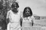 Hazel Drye and her mother; Moccasin, Arizona