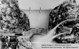 Artist's conception of completed Hoover Dam, comparing its height with that of the United States...