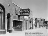 Zion Picture Shop,Iron County Record Office, Corry's Eat, Telephone Office, Lunt Hotel, and Jones'...