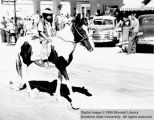 Young Paiute on Pinto pony, Utah Centennial Parade; Cedar City, Iron County, Utah