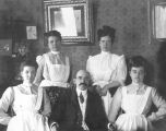 Dr. George W. Middleton and four nurses; Cedar City, Iron County, Utah
