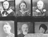 Six stamp-sized portraits; Cedar City, Iron County, Utah