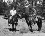LaMar Snyder and Rudy Iverson on horses