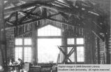 Sunroom under construction in the first Grand Canyon Lodge at the North Rim
