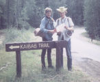 Rick Thorum and Brian Clark beginning hike at North Rim