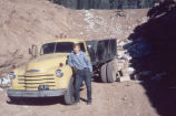 Rick Thorum as garbage man at North Rim dump