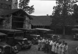 Employees welcoming guests at Grand Canyon Lodge
