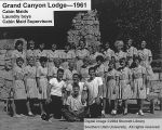 Lodge employees, cabin maids and laundry boys