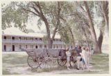 Wagon at Fort Kearny